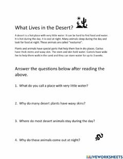 Ficha interactiva What Lives in the Desert 2?