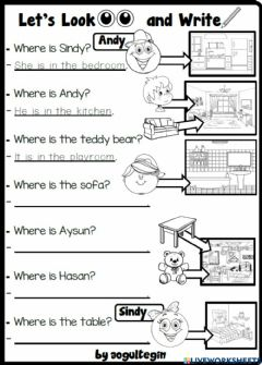 Interactive worksheet 3.6. My House