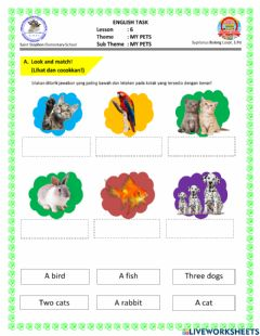 Interactive worksheet Tugas Online for First Grade
