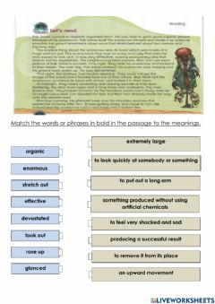 Interactive worksheet Reading : A Window To The World