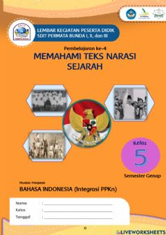 Interactive worksheet Teks narasi sejarah bag 2