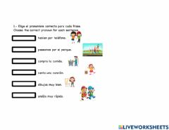 Interactive worksheet Pronombres
