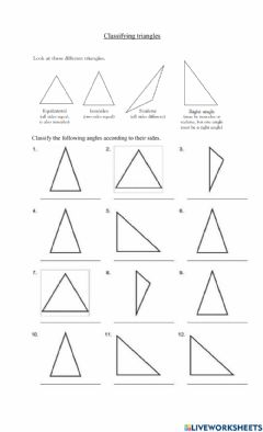 Interactive worksheet Identifying triangles