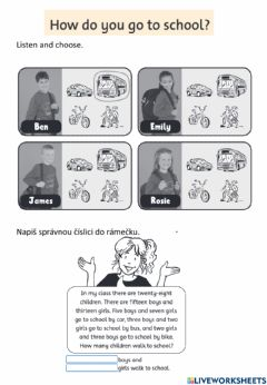 Interactive worksheet Happy Street 2