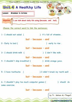 Interactive worksheet Use but and because