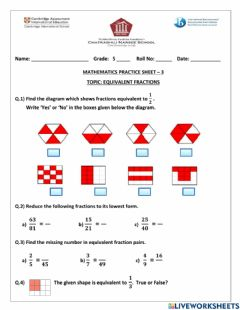 Interactive worksheet Practice Sheet 3