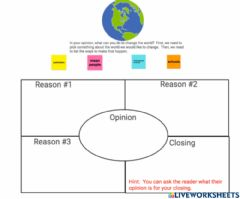 Interactive worksheet Opinion four square