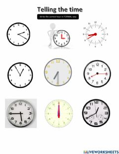 Ficha interactiva Telling the time