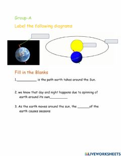 Interactive worksheet Why seasons happen