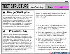 Interactive worksheet Text Structure