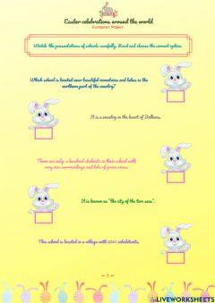 Interactive worksheet Easter Project Partners