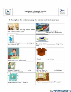 Interactive worksheet Compounds some-any-no-every