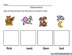 Interactive worksheet Sequencing of Hey Diddle Diddle