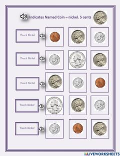 Ficha interactiva Indicates named coin - nickel - 1.02 - George
