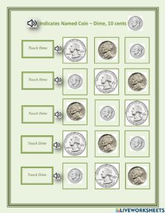 Ficha interactiva Indicates named coin - dime - 1.03 - George