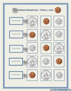 Ficha interactiva Indicate named coin - penny - 1.01 - George
