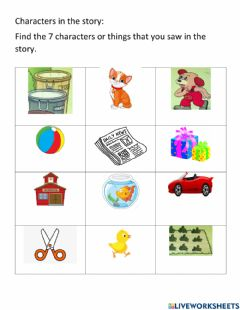 Interactive worksheet Match characters