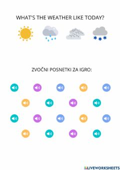 Interactive worksheet The Weather Game