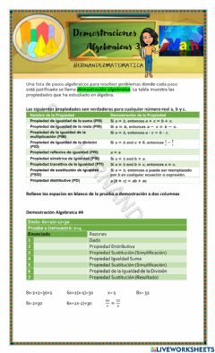 Interactive worksheet Demostraciones Algebraicas 3