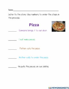Interactive worksheet Squence