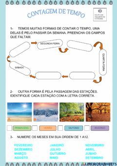 Interactive worksheet Contagem do tempo