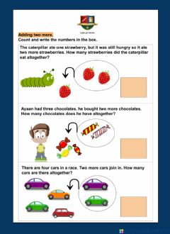 Interactive worksheet Adding two more