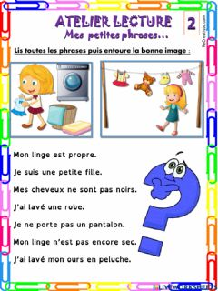 Interactive worksheet Mes petites phrases 2