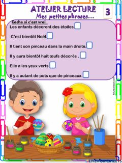 Interactive worksheet Mes petites phrases 3