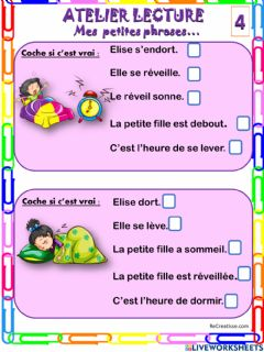 Interactive worksheet Mes petites phrases 4