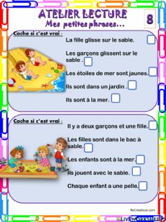 Interactive worksheet Mes petites phrases 8