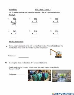Interactive worksheet DIs Maths week 7 lesson 3