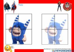 Interactive worksheet Puzle ODDBODS
