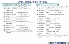 Interactive worksheet A-an-some-not any