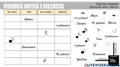 Ficha interactiva Figures notes i silencis 1