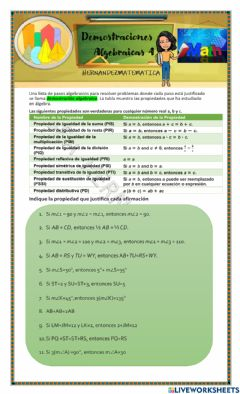 Interactive worksheet Demostraciones algebraicas 4