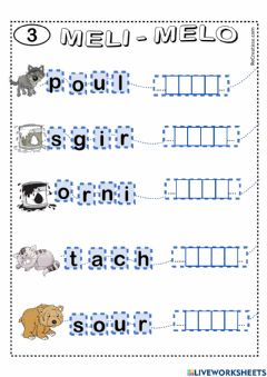 Interactive worksheet Meli melo-3