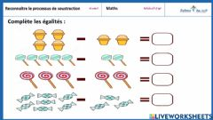 Interactive worksheet Maths soustraction