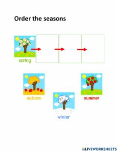 Interactive worksheet Order the seasons