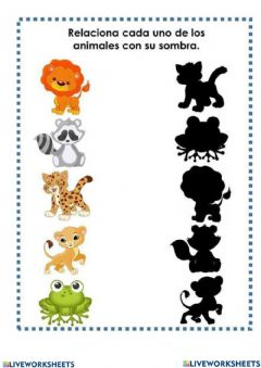 Interactive worksheet Animales-sombras