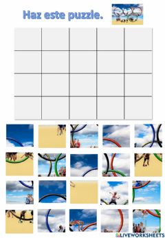 Interactive worksheet Puzzle atletismo.