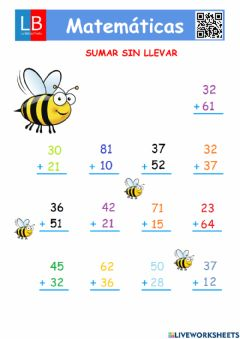 Interactive worksheet Sumar sin llevar