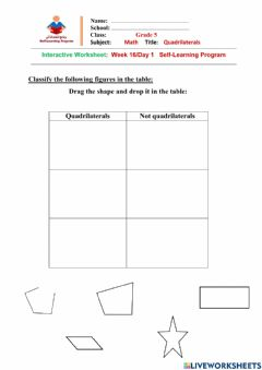 Interactive worksheet W16 D1 G5 Math Int. WS