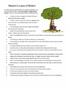 Interactive worksheet Newtons Laws of Motion