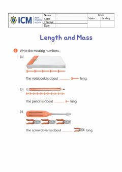 Interactive worksheet Length and Mass