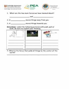 Interactive worksheet Force