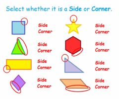 Interactive worksheet Sides and Corners
