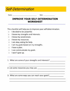 Interactive worksheet Self-Determination