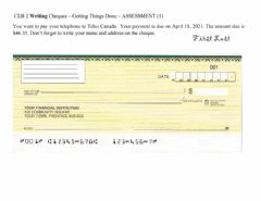 Interactive worksheet Filling out Cheques