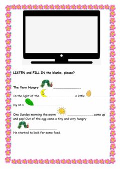 Interactive worksheet The Very Hungry Caterpillar Story (Listening )