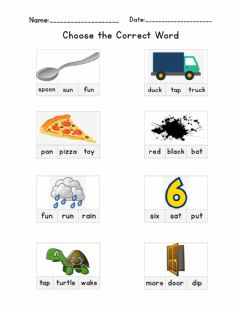 Interactive worksheet Sight Words